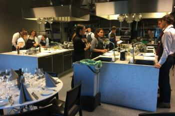 The teams had to plan, prepare, cook and plate a dish using the same main ingredients