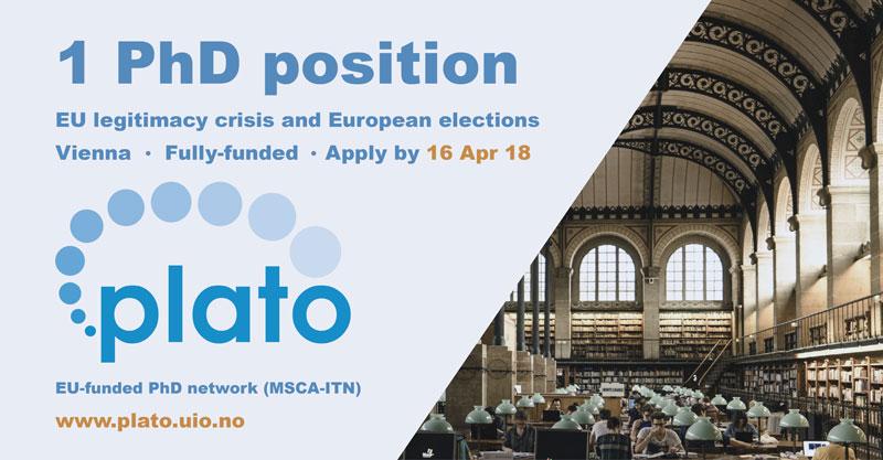 Vacant PhD position in Vienna - PLATO